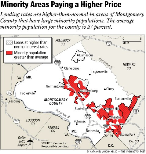 Minority areas paying a higher price