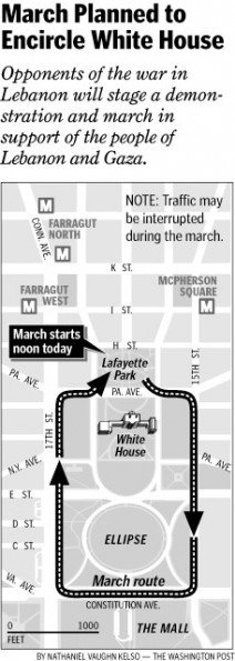 March Planned to Encircle White House