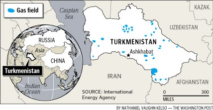 Turkmeninstan gas fields