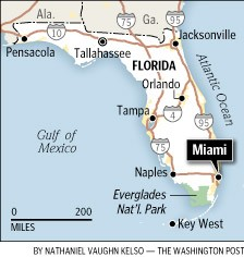 Florida travel map