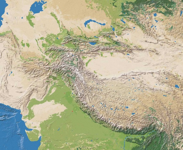 Central Asia Natural Color Map