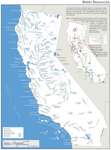 California Water Resources (Atlas plate)