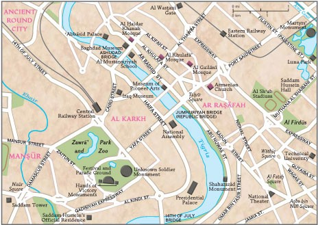 Baghdad City Map