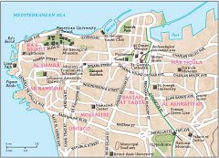Beirut City Map