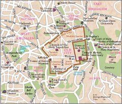 Jerusalem City Map