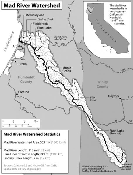 Mad River Watershed Map